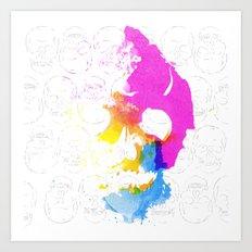 Skull Pop  Art Print