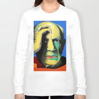 pablo picasso Long Sleeve T-shirts featuring Pablo by Zmudart