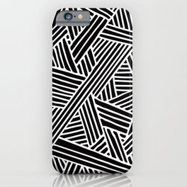 Abstract black & white Lines and Triangles Pattern - Mix and Match with Simplicity of Life iPhone Case