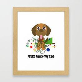 Feliz Naughty Dog Framed Art Print