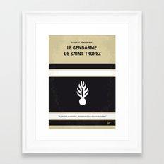 No186 My Le Gendarme de Saint-Tropez minimal movie poster Framed Art Print
