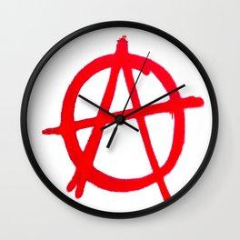 Anarchy Graffiti Wall Clock