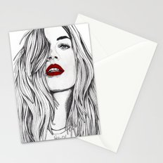 Girl with the Red Lips Stationery Cards
