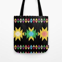 Folk black Tote Bag
