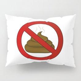 no dog poop sign illustration Pillow Sham