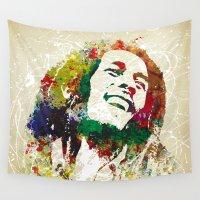 reggae Wall Tapestries featuring Reggae Music Man by Gary Grayson