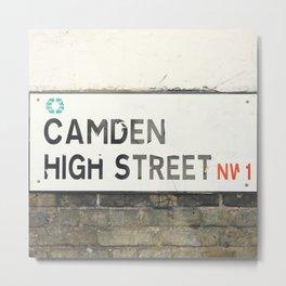 Camden High Street Sign Metal Print