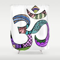 ohm Shower Curtains featuring Ohm by Ilse S