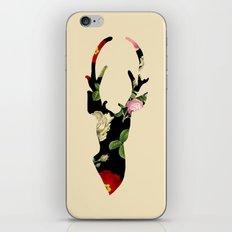 Flower Deer Silhouette iPhone & iPod Skin