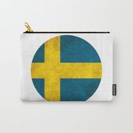 Sweden flag, circle Carry-All Pouch