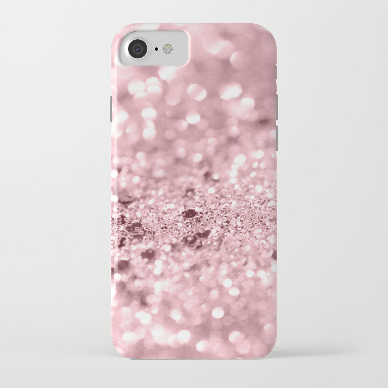 7d1c9be02 Rose Gold Blush Girls Glitter #1 #shiny #decor #art #society6 iPhone Case