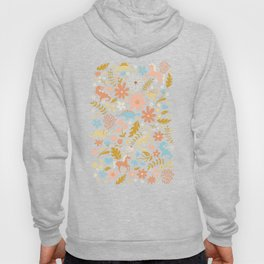 Dinosaurs + Unicorns in Blue + Coral Hoody