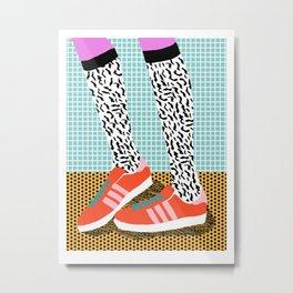 Spiffy - shoes art print memphis design style modern colorful california socal los angeles brooklyn  Metal Print