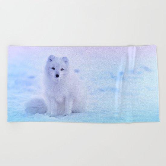 American Eskimo Dog Beach Towel