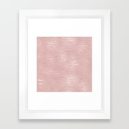 Metallic Rose Gold Blush Framed Art Print