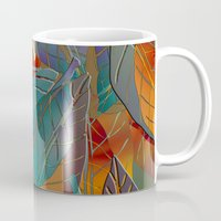 andreas preis Mugs featuring Autumn Pattern by Klara Acel