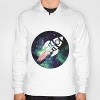 spaceship Hoodies featuring Spaceship by Cs025