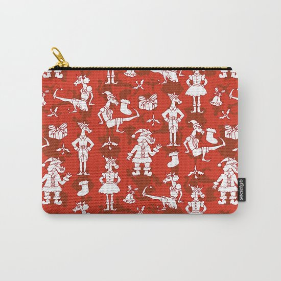 Christmas Unicorns Carry-All Pouch