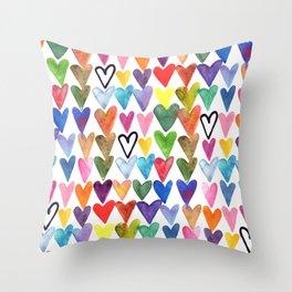 Hearts No. 1 Throw Pillow
