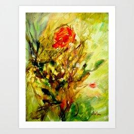 Sensual flowers 1 Art Print