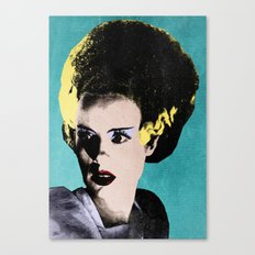 The Beautiful Bride of Frankenstein Canvas Print