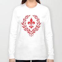 fleur de lis Long Sleeve T-shirts featuring FLEUR DE LIS by Chris1717