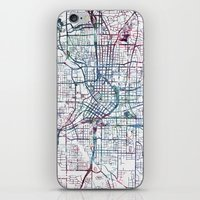 atlanta iPhone & iPod Skins featuring Atlanta map by MapMapMaps.Watercolors