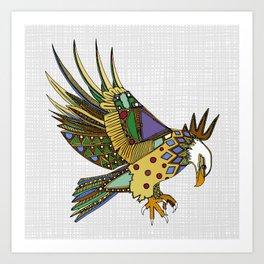 jewel eagle white Art Print
