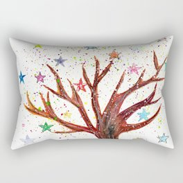 Star Tree Illustration Art Rectangular Pillow
