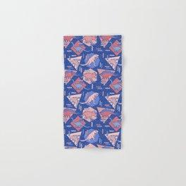 Nineties Dinosaurs Pattern  - Rose Quartz and Serenity version Hand & Bath Towel