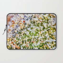 Constellation Top Shelf Bud Diamond OG Strain Trichomes Close Up View Laptop Sleeve