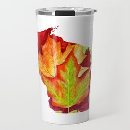 Wisconsin Leaves Travel Mug