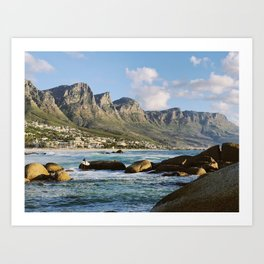 Mountains and Waves Art Print