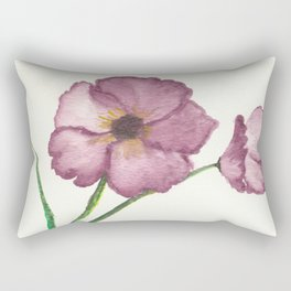 Burgundy Poppies Rectangular Pillow