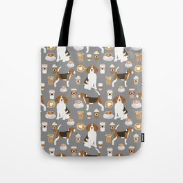 Beagle coffee dog breed gifts pupuccino dog lover beagles pure breed Tote Bag