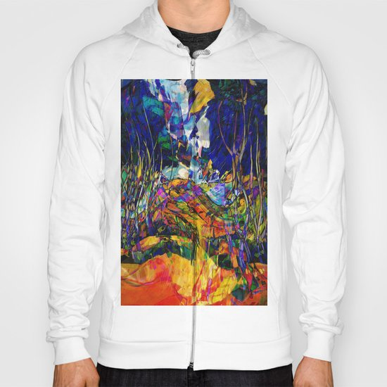 beautiful road in the night autumn forest Hoody