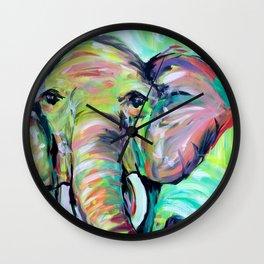 Elephant 2 Wall Clock