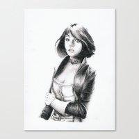 bioshock infinite Canvas Prints featuring Elizabeth from Bioshock Infinite  by MrAkitoto