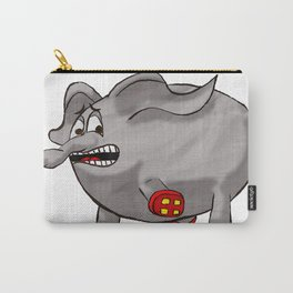 Elephants love red rollerskates Carry-All Pouch