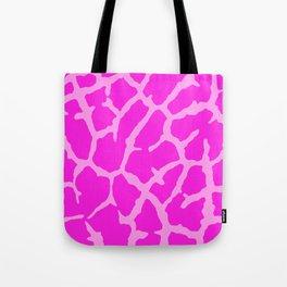 Pink Giraffe Print Tote Bag