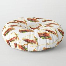 Sandwich Pattern BLT Floor Pillow