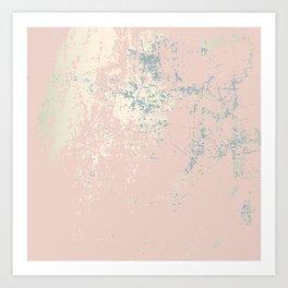 Patina blush pink gold Art Print