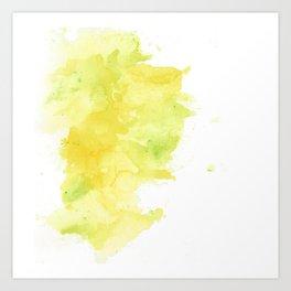 Yellow Watercolor Art Print
