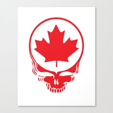 Canadian Steal Your Face (variation #2) Canvas Print
