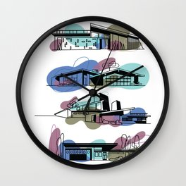 Honey, I'm Home! (Olympian Blue) | @makemeunison Digital Art Wall Clock