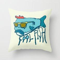 COOL FISH Throw Pillow