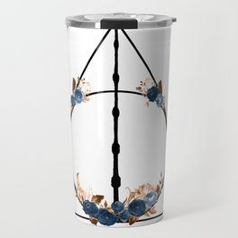 Deathly Hallows in Blue and Brown Travel Mug