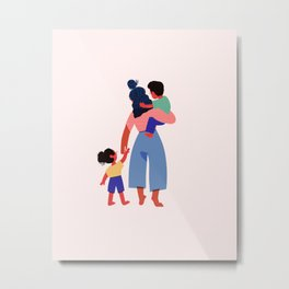 Families Belong Together Metal Print