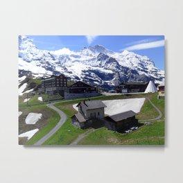 Switzerland: Jungfrau Town Metal Print