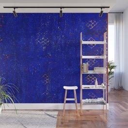 -A5- Royal Calm Blue Bohemian Moroccan Artwork. Wall Mural